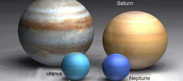 Relative sizes of planets and stars